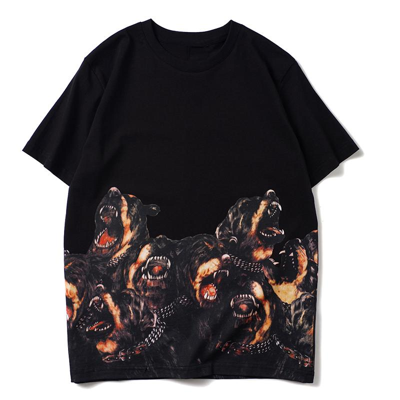 20ss Men Стилист T Рубашки Мода Женщины Стилист Одежда Собаки Печать с короткими рукавами Тис размер S-XXL