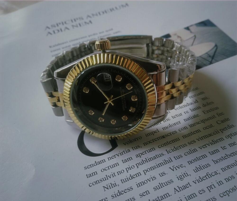 Top Marca HOMBRES HOMBRES MUJER RELOJ DE Moda Diseño clásico Royal Diamond Reloj de hielo Out Out Relojes de acero inoxidable Movimiento de cuarzo Shinning Reloj de pulsera