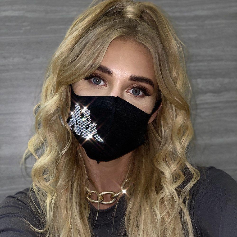 50% Off Fabrika Toptan Moda Trend 2020 Kadın Aksesuarları Sıcak Matkap Baskı Maskesi Z1303