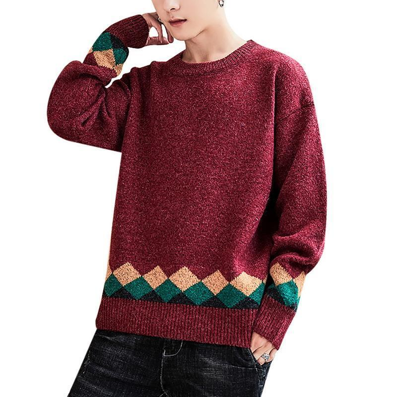 Liththing Hand Hiver Soft Ticking Fitness Top Sweaters Hommes Solide Bas Bas Bec Slim All-Match Japonais Mode Harajuku Pull H1209
