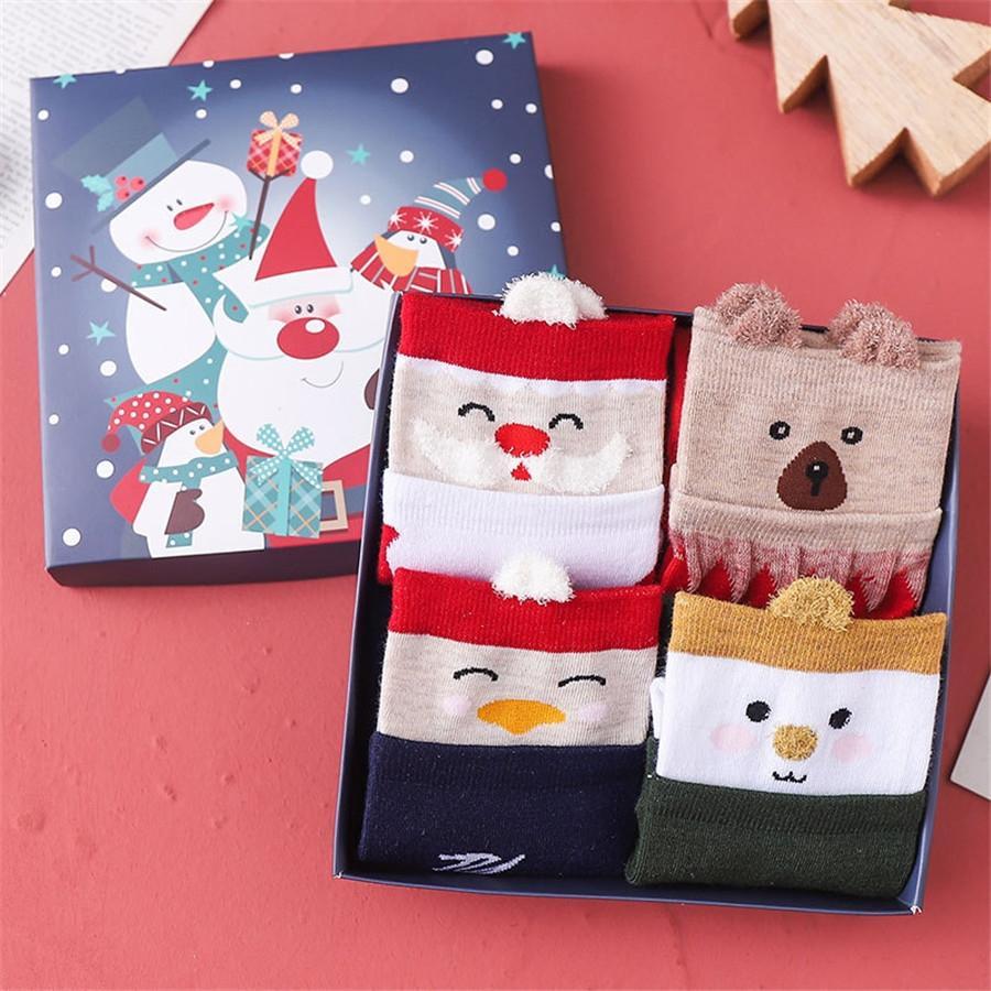 Friendly Christmas Doces Doces Decorações para Casa Natal 3d Snowman Socks Snowflake Gift Bags # 501