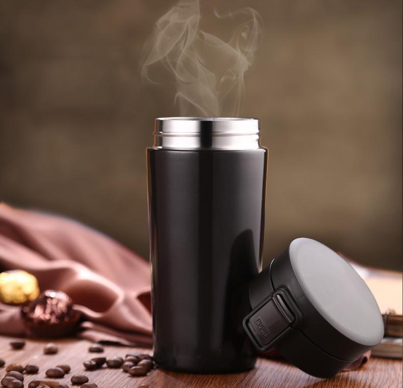 Tasse de voyage de 380 ml pour la bouteille de café bouteille thermique bouteille en acier inoxydable Flacons de thermoCup THERMO THMO THMO PORTABLE Thermoses boissons LJ201218