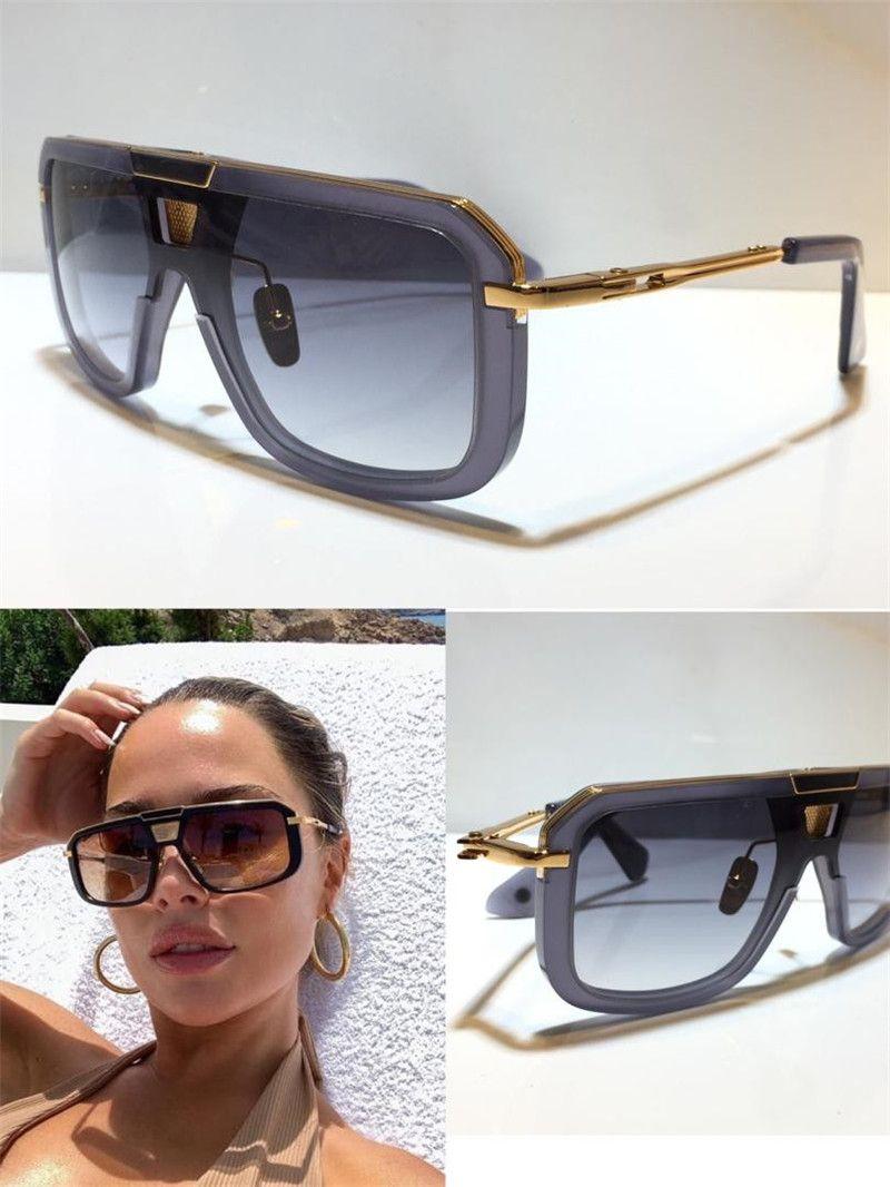 M 8 선글라스 남자 금속 레트로 클래식 유니섹스 선글라스 패션 스타일 플레이트 프레임 UV 400 미러 상위 품질 패키지와 함께