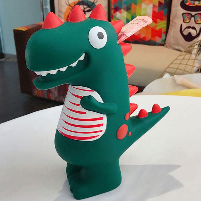 Cute Dinosaur Money Boxes Creative Cartoon Mini Fall-proof Plastic Saving Container Piggy Bank Home Decorative Ornament Gifts Z0123
