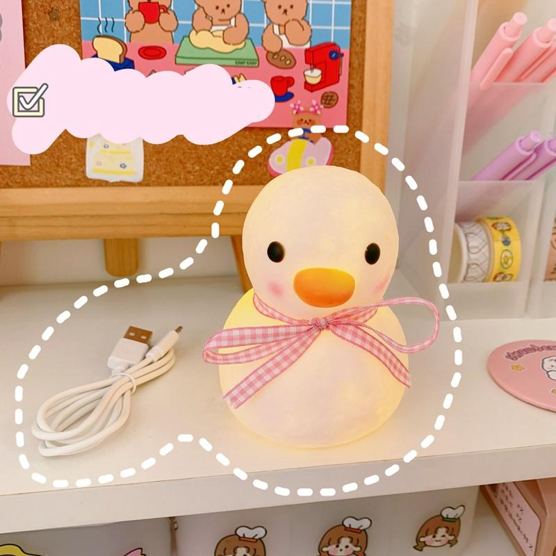 Duck Decorative Lamp Baby Night Night Light Lights Room Room Carino Ailluminazione di animali Camera da letto Decor Bambini Decorazione della camera per bambini Decorazione luminaria Regalo EEF3558