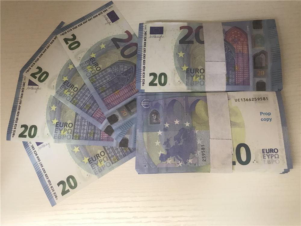 2021 Cross-frontière Hot-Vendre Moderne Moderne Euro 20 Copier de papier Banknote PROP ARGENT EUR 100PCS / PACK 024