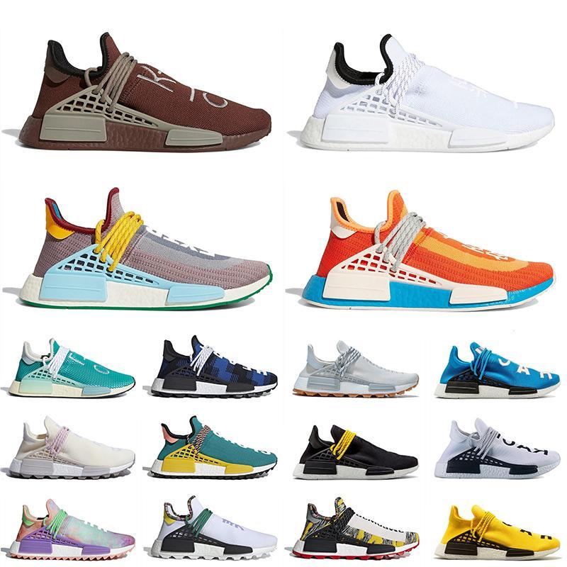 adidas pharrell williams human race v1 v2 nmd 2021 Yeni NMD İnsan Yarışı V1 V2 Erkek Bayan Koşu Spor Ayakkabı Çikolata Beyaz Siyah Ekstra Göz Turuncu Eğitmenler Sneakers