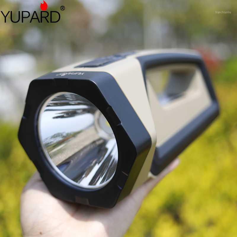 Фонарические фонари Горелки Портативный Сильный свет Лампы USB Зарядка на открытом воздухе Аварийный поиск Светодиодный прожектор HHP50.2 Светодиодный прожектор