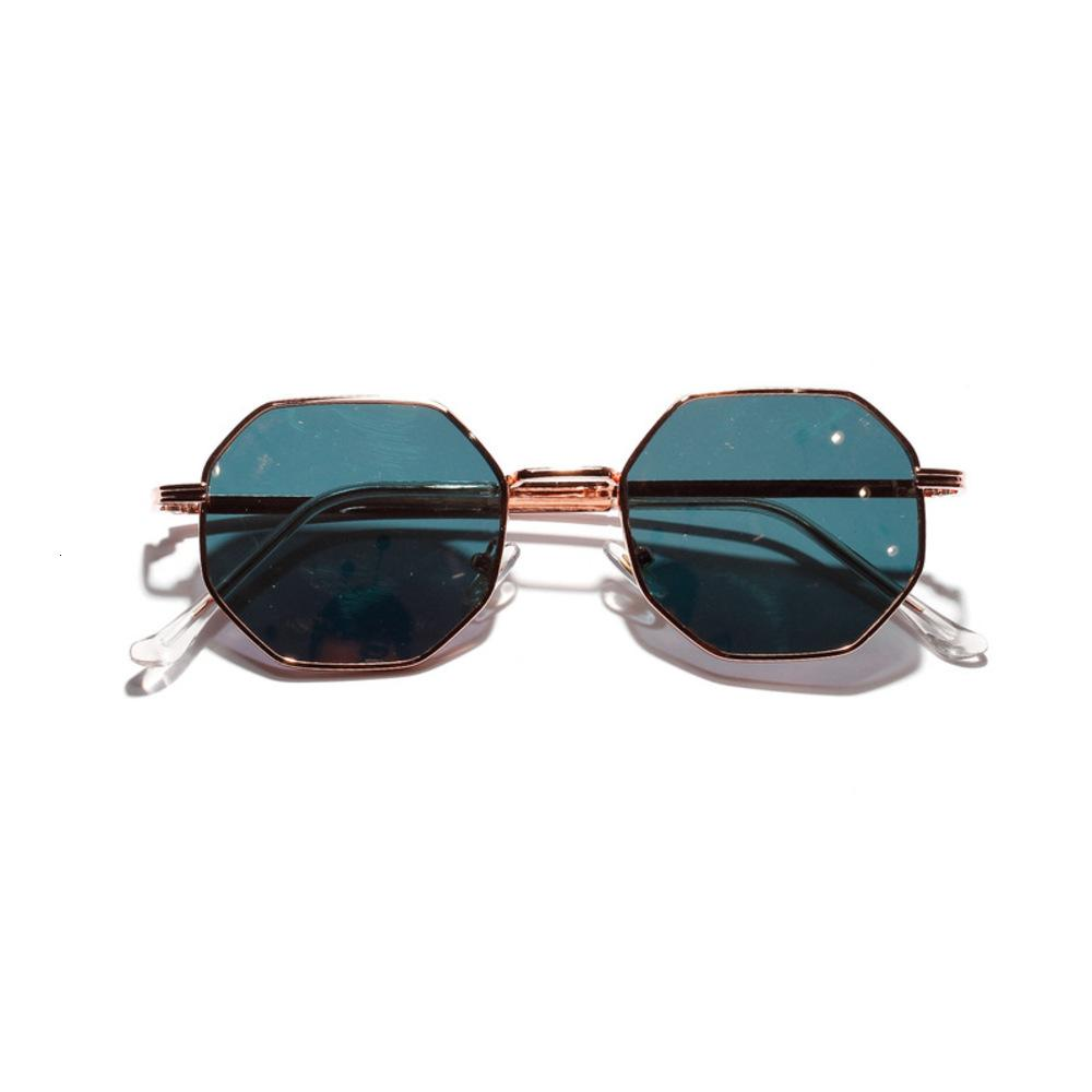 Brand Design Metal Polygon Fashion Frame Sunglasses Women For Men Vintage Luxury Mirror Sun Glasses UV400 De Sol