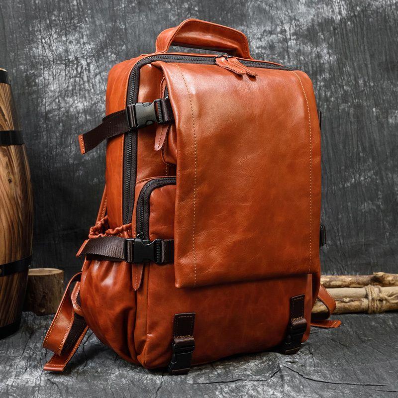 Original Craft Maheu Mochila suave Bagpack masculino destaca la mochila de cuero genuino
