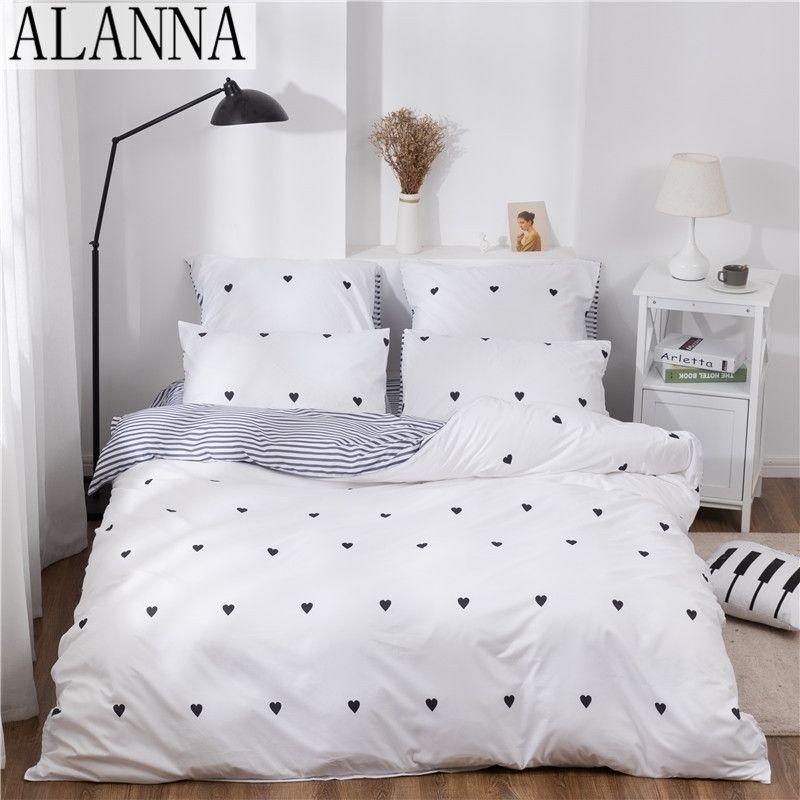 ALANNA X-1004 Напечатанные твердые постельные принадлежности для проживания для дома 4-7 шт. Высокое качество Прекрасный узор с звездным цветом дерева 201119