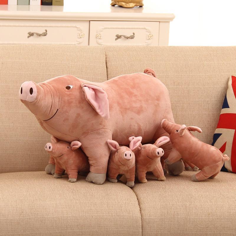 Kawaii, смоделированные SOW Piggy кукла плюшевые игрушки мягкие чучела животные кукла удерживают подушку для девочек подарок детей день рождения brinquedos подарок lj201126