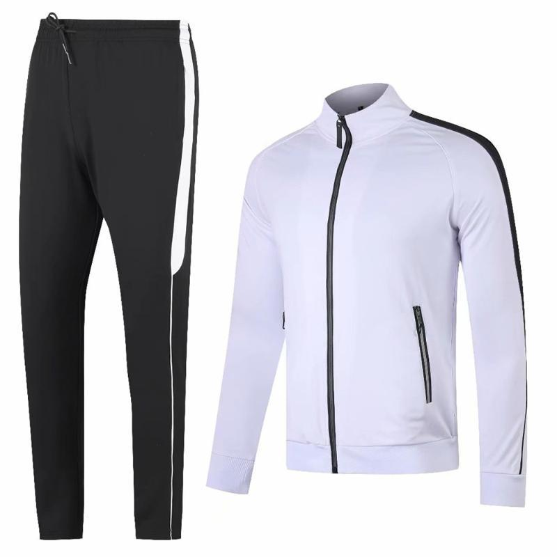 Sonbahar Kış Eşofman Yetişkin Koşu Ceketler Pantolon Futbol Eğitim Takım Elbise Açık Futbol Koşu Kazak Pantolon Artı Boyutu