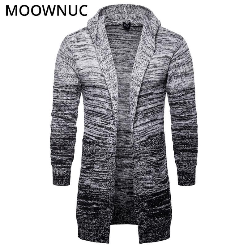 Moda maschio in cotone solido astuto casual casual nuovo autunno sottile tenere caldi homme cardigan uomini maglione moderno Moowniuc MWC 201211