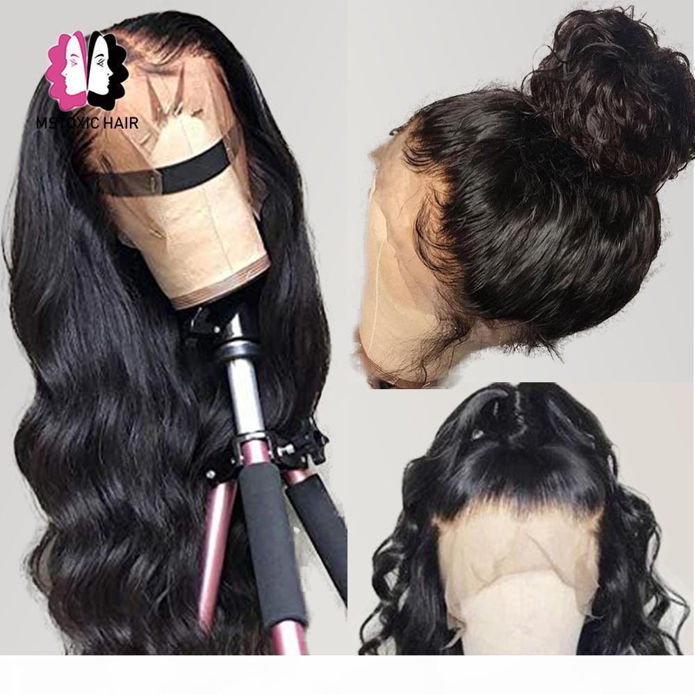 360 Dantel Frontal Peruk Brezilyalı Vücut Dalga Peruk 13x4 Dantel Ön İnsan Saç Peruk Siyah Kadınlar Için Mstoxic Remy Saç 4x4 Kapatma Peruk