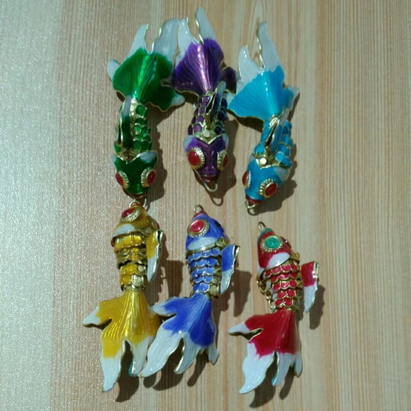 110 pcs handwork vívido balanço esmalte peixe encantos diy jóias fazendo fornecedor colar bracelete brincos keychain acessórios jóias pingentes atacado
