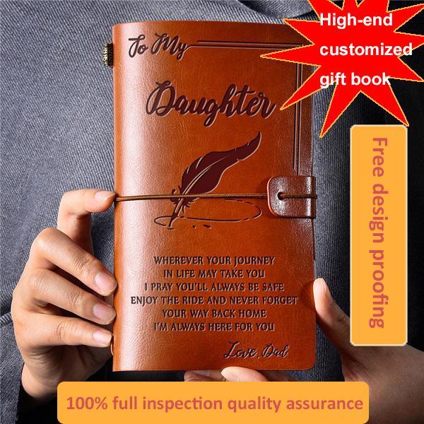 Studentenarbeitsbuch Business Notebook Portable Compact Custom Leder Reise Notebook Schreibwaren Retro Notepad Entwurf Buch Anpassung