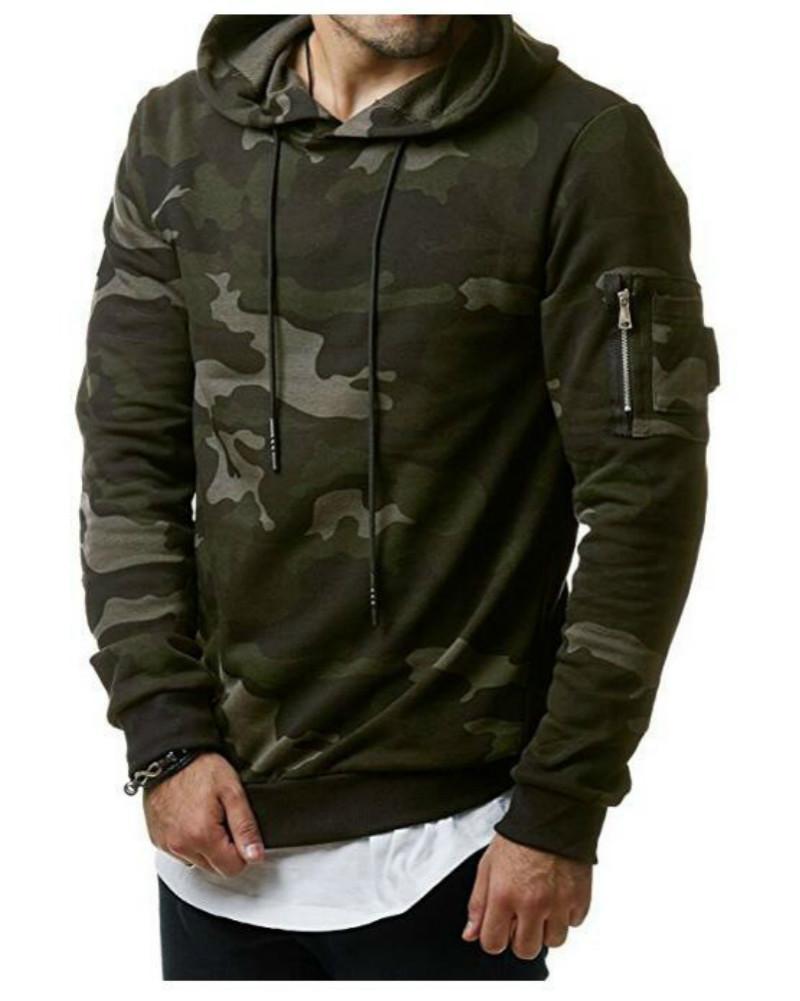 2021 Mens Designer Hoodies Mode Camouflage Mit Kapuze Langarm Slim Casual Pullover Samt Pullover Lose Kleidung DHL