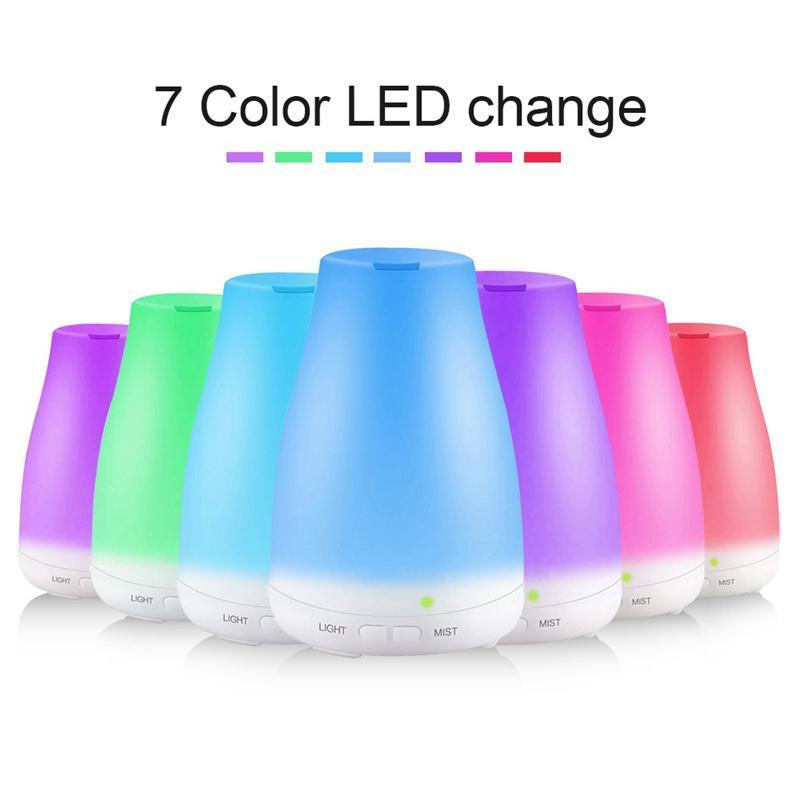 Difusor de óleo essencial humidificador aroma umidificador 7 cor LED Night Light Difusor Ultrasonic Fresco Névoa Air Aromaterapia CCC3987