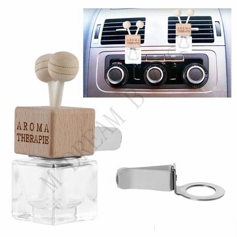 سيارة عطر زجاجة فارغة مع كليب زجاجة عطر سيارة ملون لمخرج الهواء من مكيف الهواء المحمول سيارات AI Jllomr Outbag2007