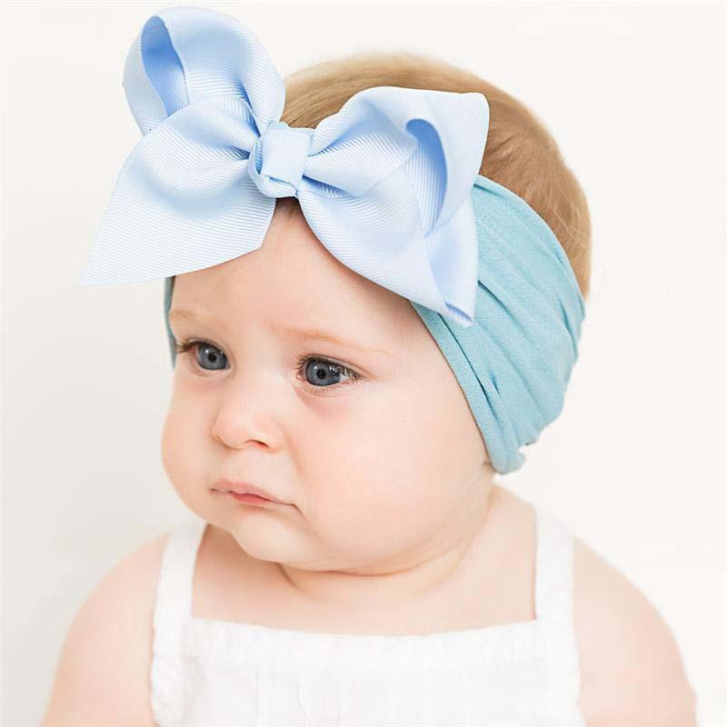Kinder Baby Mädchen Elastische Wide Bow Bowknot Stirnbänder Haarbänder Kinder Zubehör Grosgrain Haarband Turbon Knoten Headdr