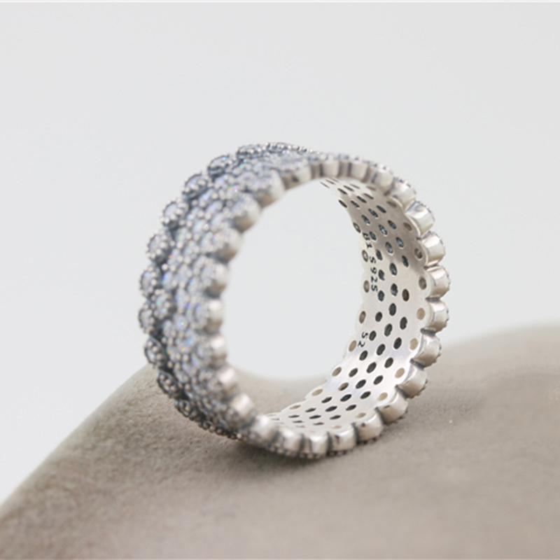 2018 Новая мода 925 Стерлинговое серебро Full CZ Каменное кольцо с оригинальной коробкой для Pandora Обручальное кольцо Женский подарок