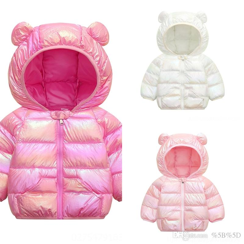CeV Toddler Kids Winter Clothes Children Girls White Duck Down Parka down jacket child girl Fashion Down Dye Hooded Jacket Tie Boys Warm