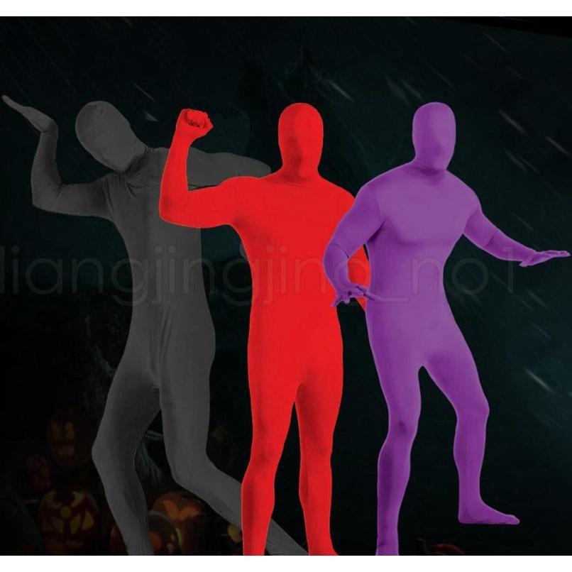 Halloween Fancy Vestido Etapa Negro Persona Decoración Morph Traje Traje Adulto Skin Suit Spandex Body Halloween Decorat Sqcxms Pingtoy