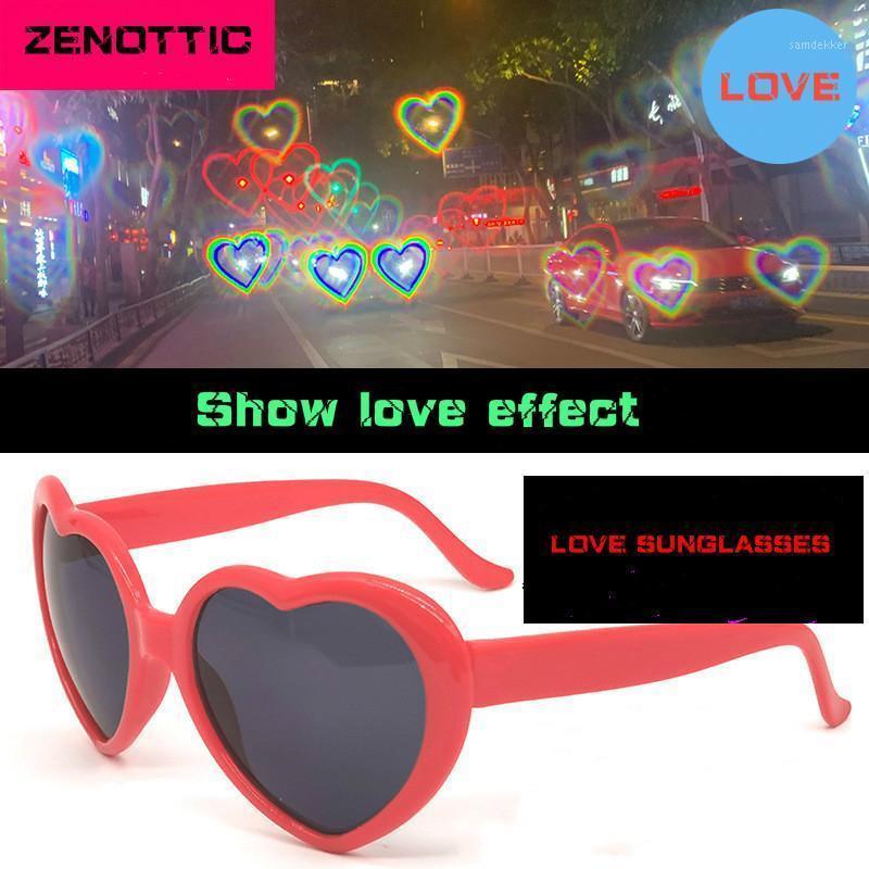 Zenottic Love Gafas de sol Efectos especiales Melocotón Corazón Cumpleaños Gafas de cumpleaños En forma de corazón Instifact Lights Conviértete en Amor Sun Glasses1