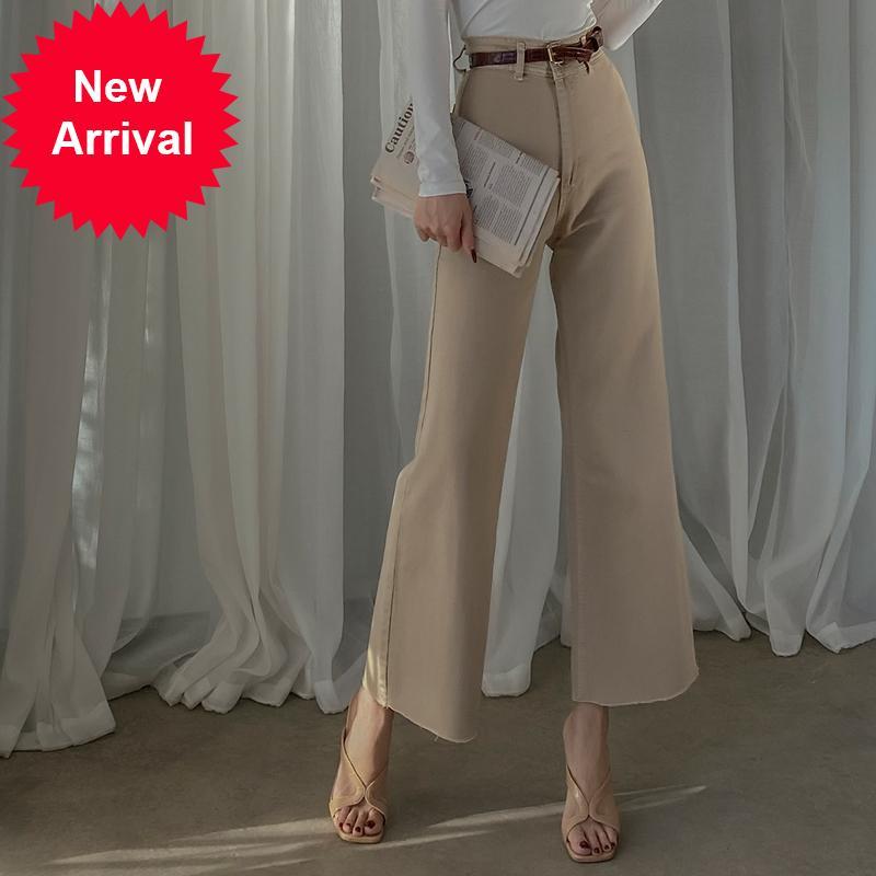 2020 outono inverno novo novo slim todos coincidir suave nu denim branco cintura alta calças de perna soltas moda mulher envoltório calças quadril