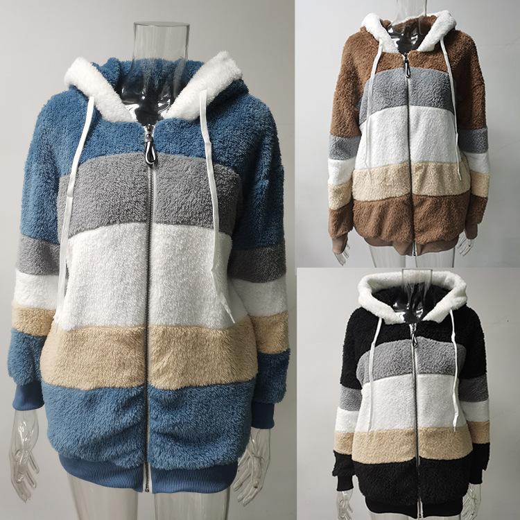 New womens womens maglione di inverno spessa calda designer donna Trendyol X-Lungo maglioni in lana finto frotte pelliccia pelliccia teddy fashion pile giacca casual cappotti