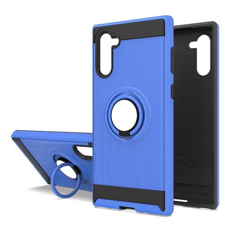 Для Samsung Galaxy A01 PC PCU гибридный защитник TPU матовый металлический корпус сотового телефона с кольцом лаймарный чехол низкая цена