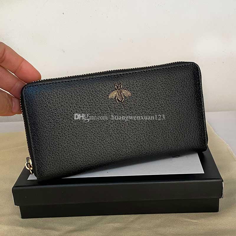 Herren lange Brieftasche Reißverschluss Animalier Einzelne Geldbörse Qualität langes echte mode lederbiene lange mit halter hohe geldkastenkarte toxdf