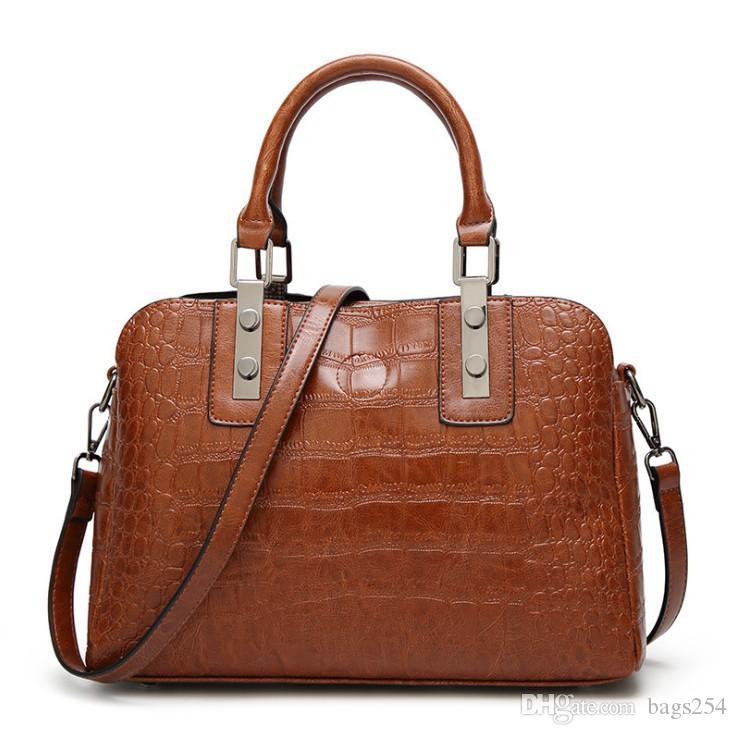 Bolso de bolso de cocodrilo bolsas de hombro para las mujeres bolsos de cuero vintage bolsas bolso de las mujeres bolsas de bolso saca un bolsa principal feminina