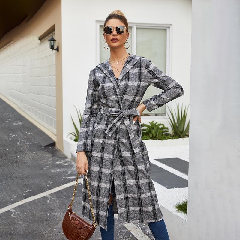 Rt81 spot tendencia caliente invierno estilo caliente 2020 otoño y venta moda color sólido casual solapa solapa manga larga blusa de felpa abrigo largo