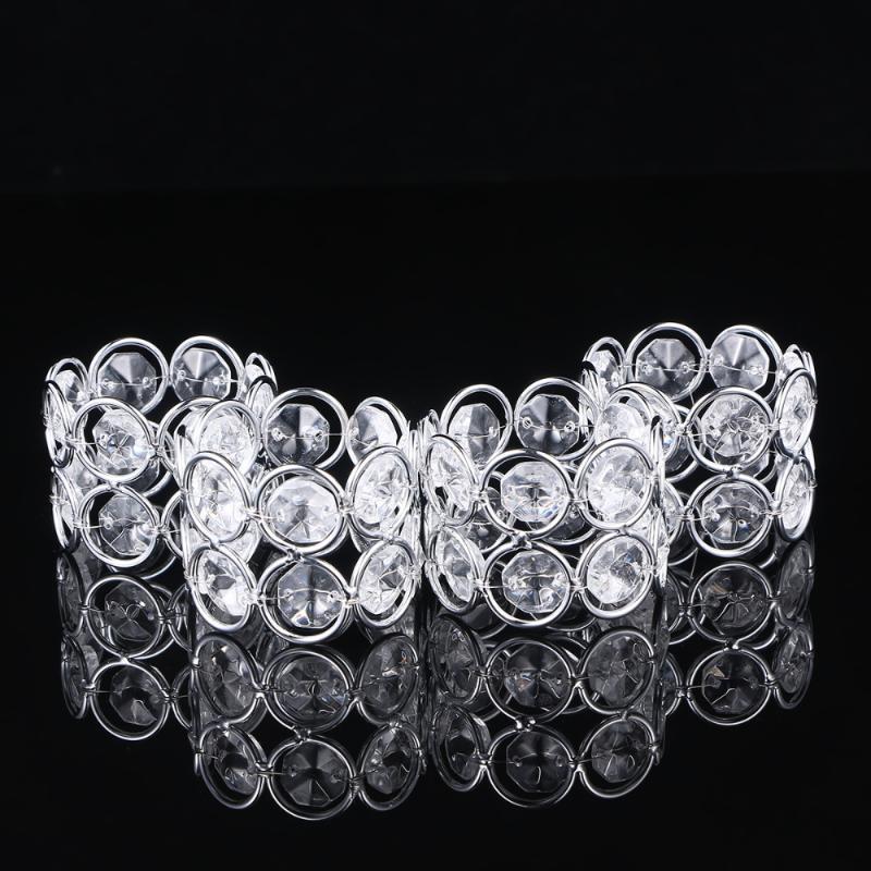Metal Peçete Halkaları Kristal Peçete Tokalar Serviette Tokaları Akşam Yemeği Parti Düğün için