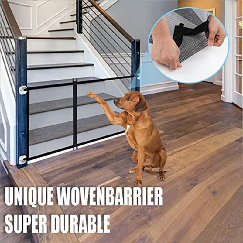 Ворота собаки Гениальная сетка забор собаки для внутренних и наружных безопасных домашних животных ворота для собак