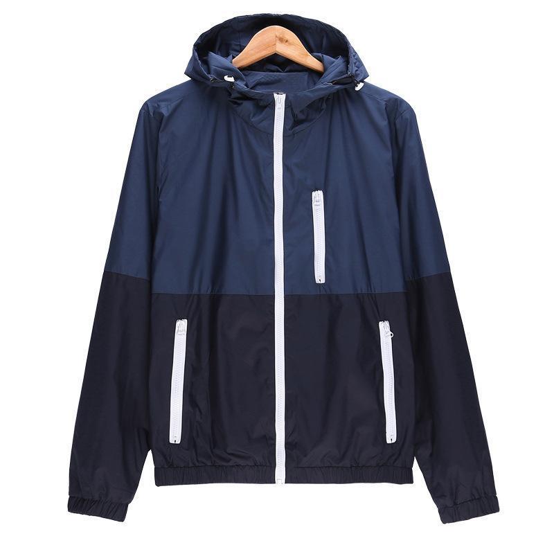 Chaqueta hombres 2021 verano otoño sol-protector con capucha patrón ropa ropa casual jaquetas homme abrigo fino para hombre chaquetas M-3XL