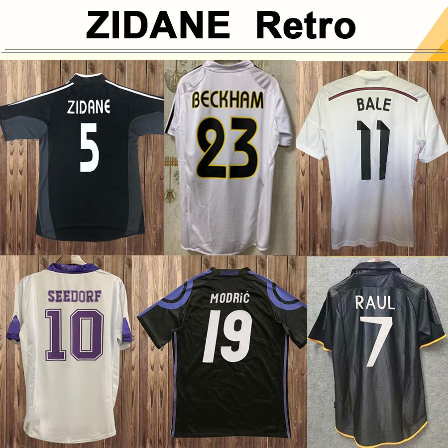 97 00 ALONSO SEEDORF RAUL Mens RETRO Soccer Jerseys 01 07 ZIDANE BECKHAM CANNAVARO R.CARLOS KAKA' SERGIO RAMOS Football Shirt Uniforms