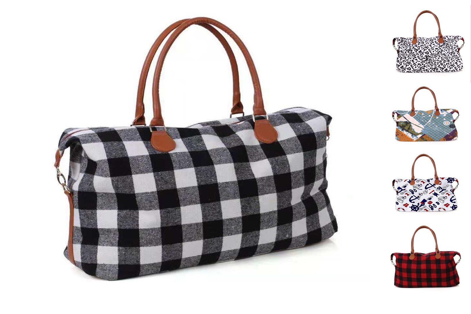 Christmas Lilly check bag designer handbags buffalo check large Capacity travel bag Maternity black red cheetah with PU Handle women bags