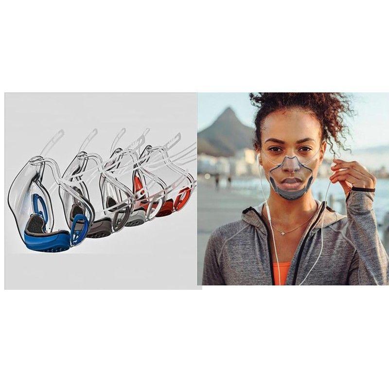 Toz Geçirmez Vizör Yüz Maskesi Şeffaf Kullanımlık Dudak Koruyun Dil Yüz Kalkan Yeni Kadın Adam Ağız Maskeleri 8YX K2