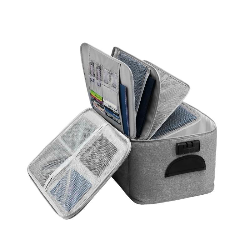 Boîte de grande capacité Imperméable Document Organisateur Documents Documents de stockage Sac de voyage Pochette de voyage Y200714