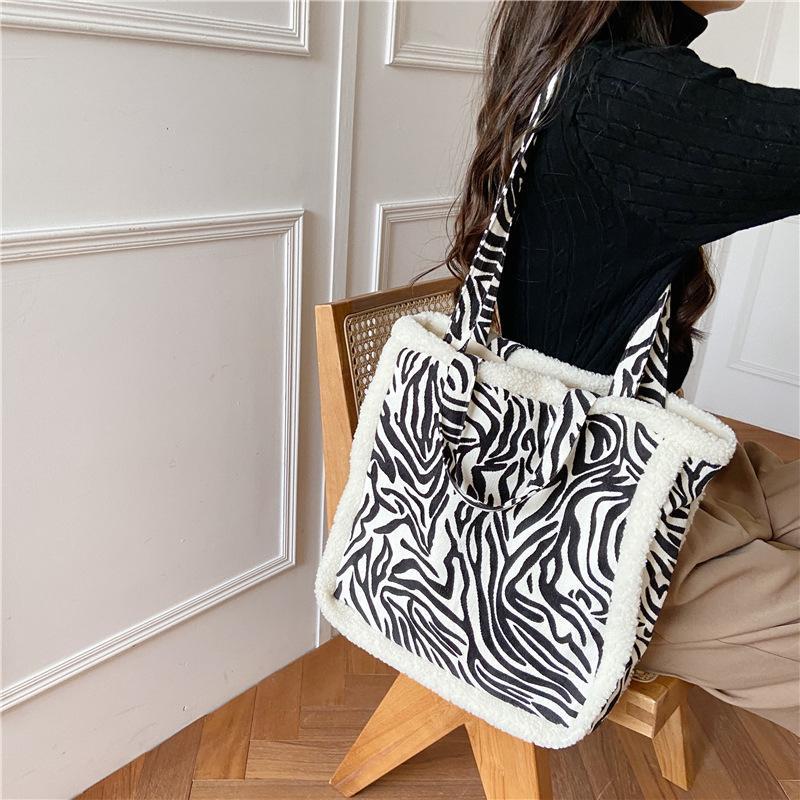 Haupttasche Dames Bandoulière Print Listonoszka Handtasche Frauen Tote à sac cow handtassen Tasche Femme Frau Leopard Torebka Corduroy Tcnjw