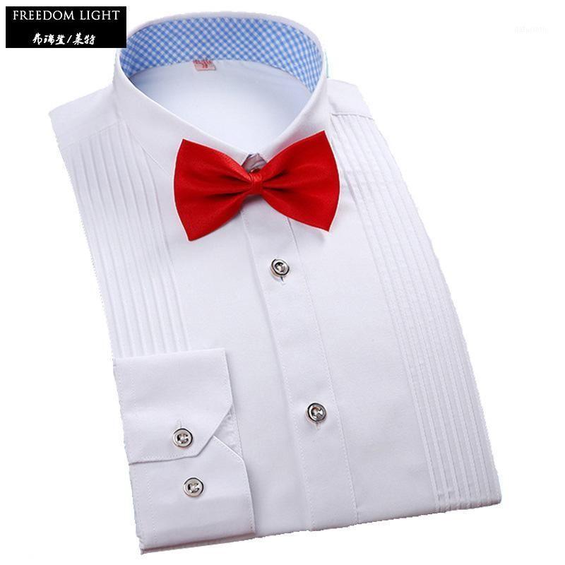 Primavera otoño camisas de manga larga camisa de esmoquin de hombre Slim Fit Fit Camisa de color sólido Hombres Top Calidad Chemise Homme Asian Tamaño M-5XL1