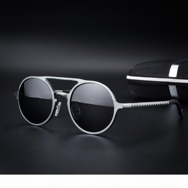 Großhandel - retro runde polarisierte sonnenbrille frauen steampunk sonnenbrille für männer metall weibliche okulos männlich uv heiß