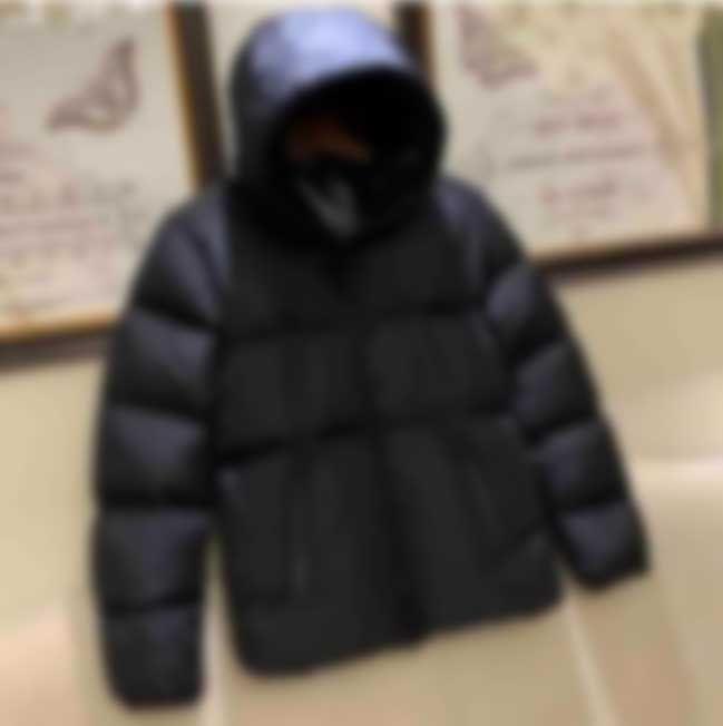 20FW 클래식 겨울 아래로 자켓 둘째로 편지 남성 남성 방풍 따뜻한 솔리드 다운 코트 여성 streetwear 옴 메이 패션 야외 outwear