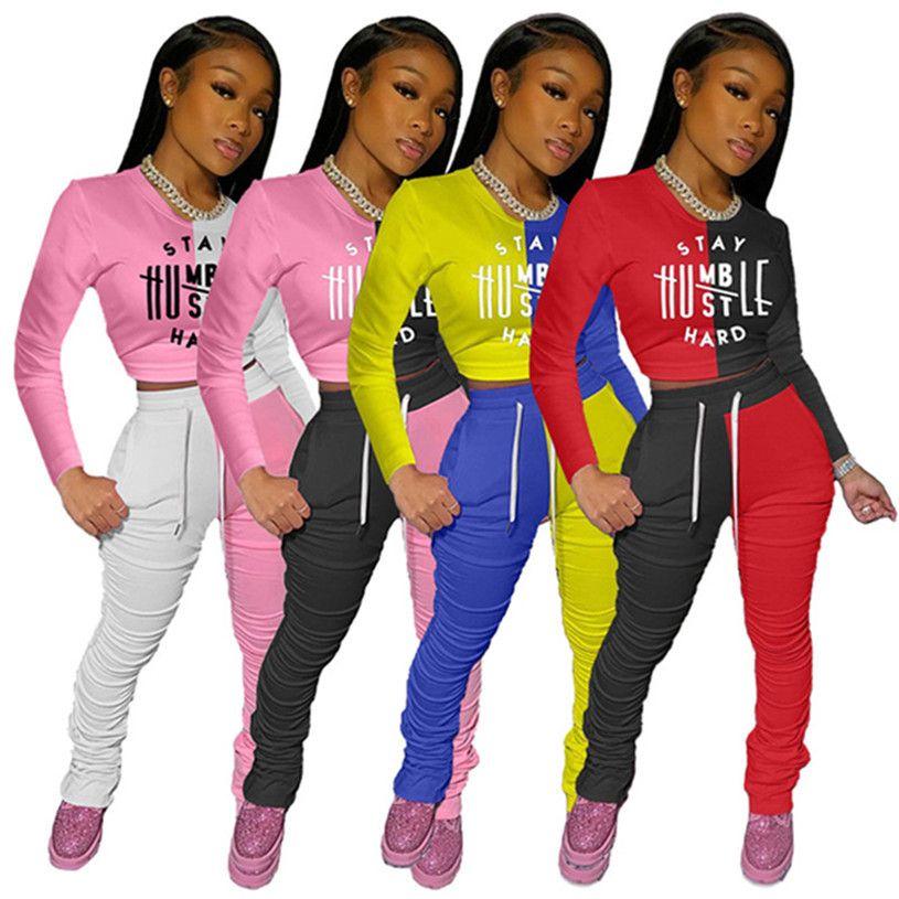 Kadın Panelli Tasarımcı 3XL Güz Kış Rahat Giyim 2 Parça Setleri Artı Boyutu Hoodies Tayt Uzun Kollu Jogger Suit Kazak Pantolon H1415
