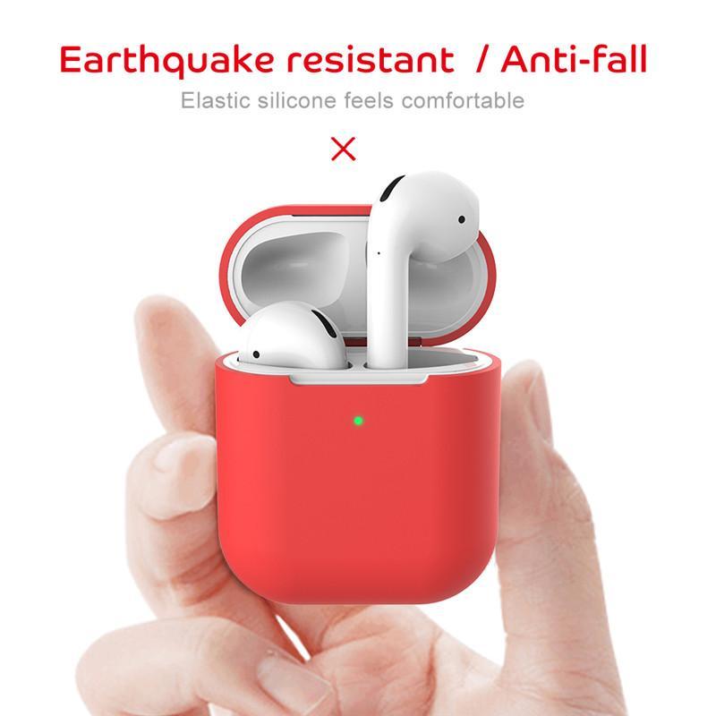 Custodia protettiva in silicone morbida per AirPods 2 Fashion Anti-Fall Auricolare Auricolare per AirPods Cuffia Bluetooth wireless
