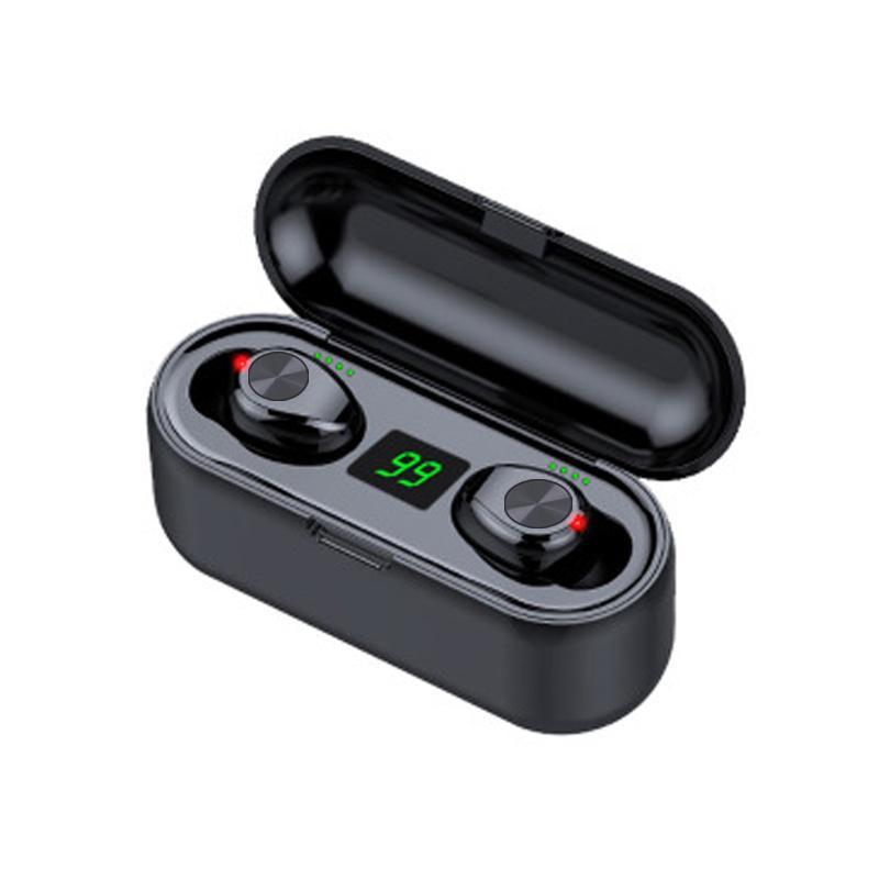 Touch style Button style Wireless Earphone Bluetooth With Microphone V5.0 F9 TWS Headphone LED Display With 2000mAh Power Bank Headset
