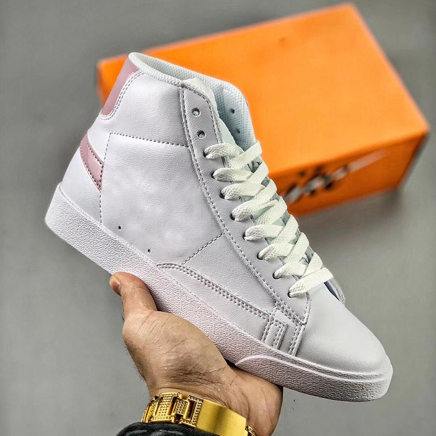 Мужская платформа обувь Blazer MID старинные замшевые дизайнерские кроссовки кожи высокое качество моды модные модные повседневные туфли